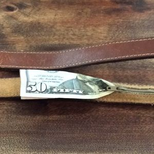 PATAGONIA 1980's leather $ belt